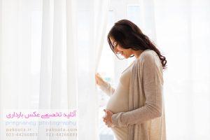 نمونه عکس آتلیه بارداری