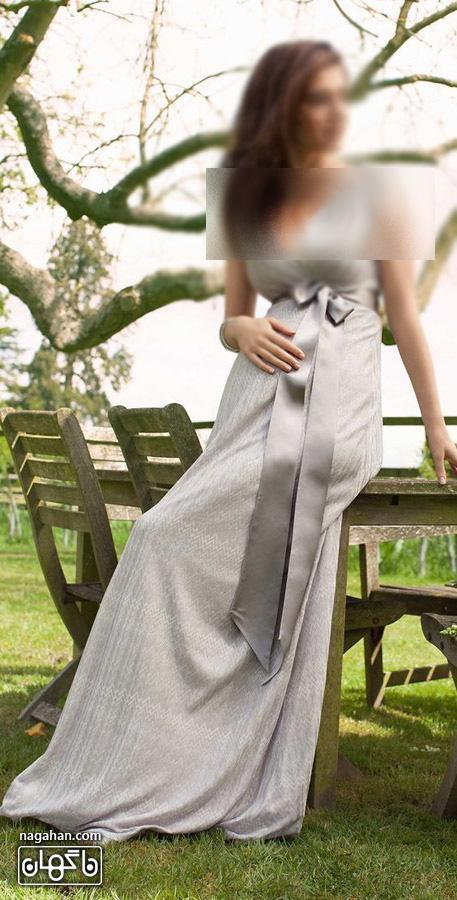 عکس لباس حاملگی نقره ای