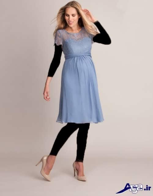 مدل لباس بارداری حریر کوتاه
