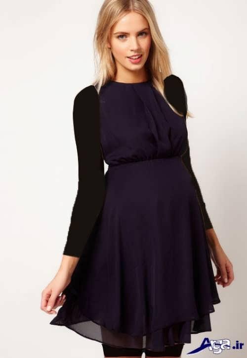 مدل لباس حریر شیک و کوتاه بارداری